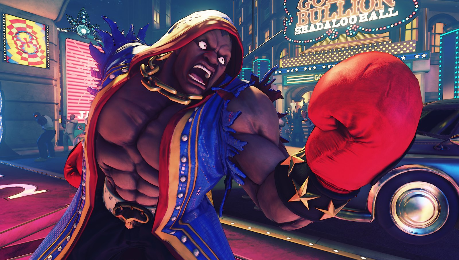 Screenshot di un personaggio di Street Fighter V