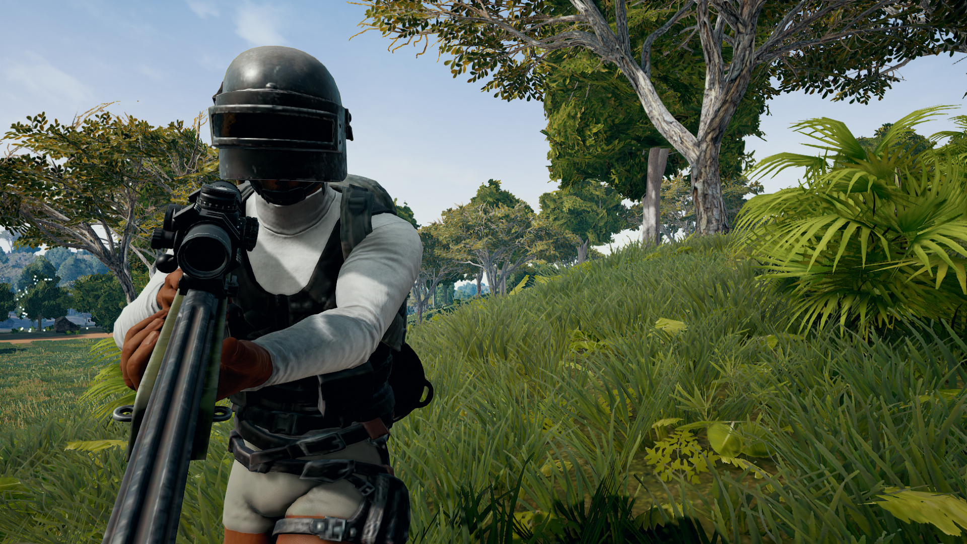 Screenshot in game di PUBG.